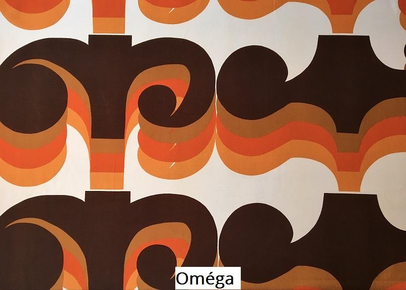 tissu vintage Oméga