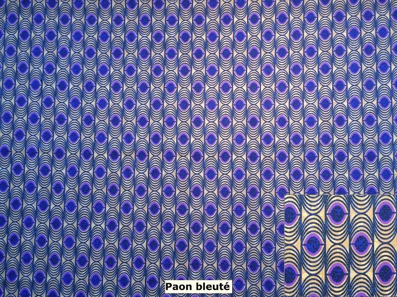 tissu vintage paonbleu