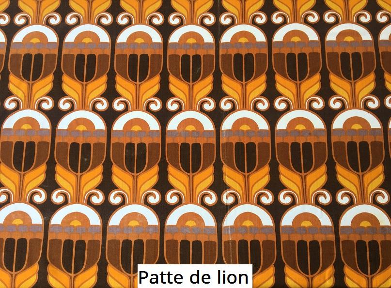 tissu vintage patte-de-lion