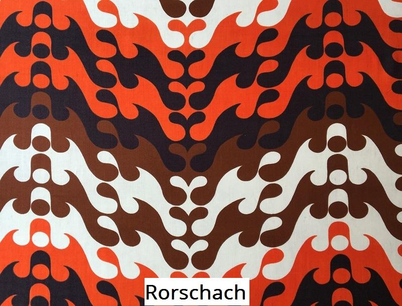 tissu vintage rorschach