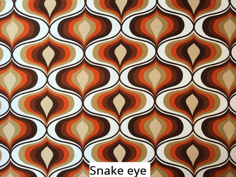 tissu vintage snake-eye