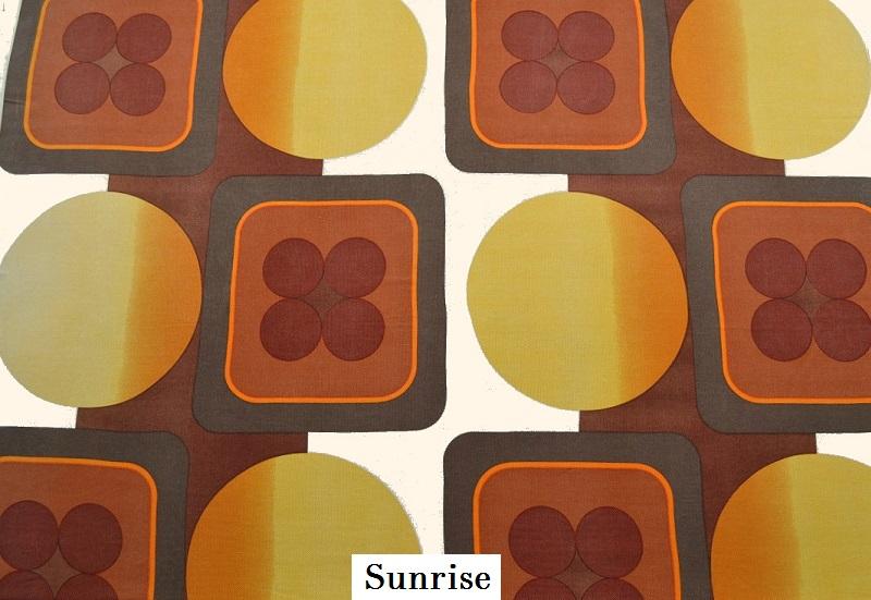 tissu vintage sunrise