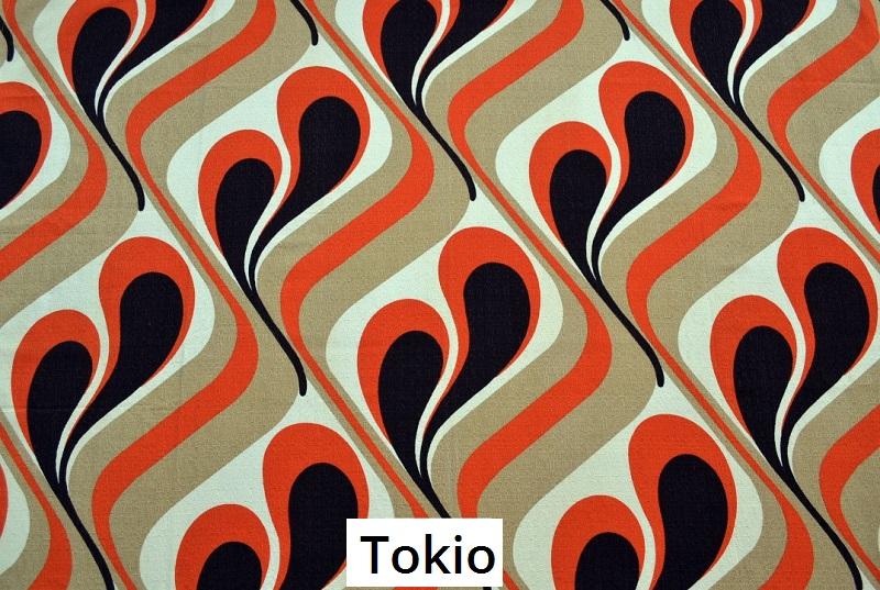 tissu vintage tokio