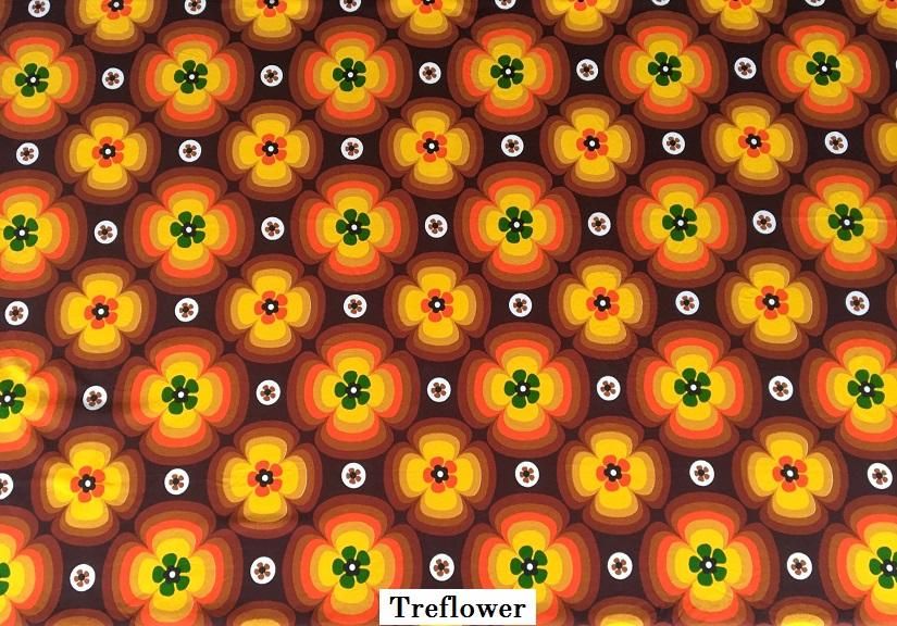 tissu vintage treflower