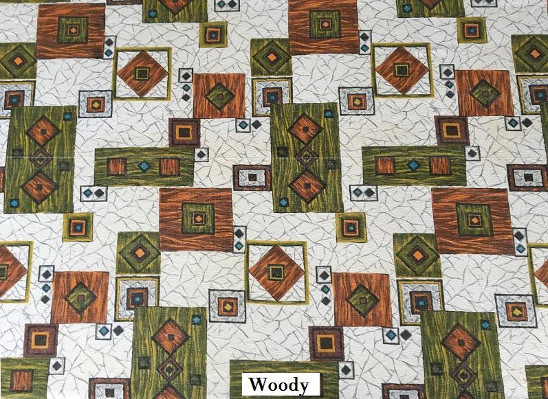 tissu vintage woody